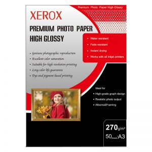 کاغذ فتو گلاسه براق زیراکس ۲۷۰ گرم ۵۰ برگی سایز A3