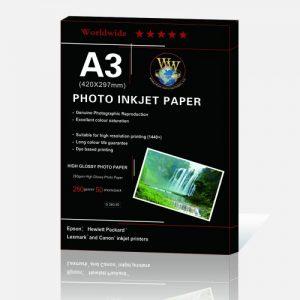کاغذ فتوگلاسه براق ۲۶۰ گرم ۵۰ برگی سایز A3