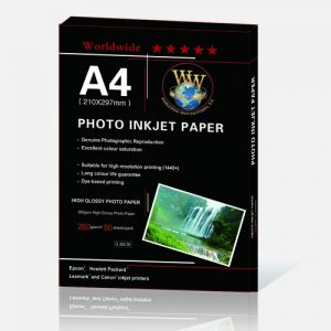 کاغذ فتوگلاسه براق ۲۶۰ گرم ۵۰ برگی سایز A4