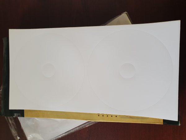 لیبل CD گلاسه براق برند WWM
