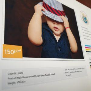 کاغذ دورو فتوگلاسه براق ۱۵۰ گرم ۱۰۰ برگی سایز A4