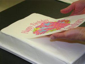 چاپ روی کیک