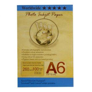 کاغذ سایز 10در15 260گرم