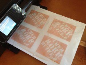 چاپ کاغذ مومی