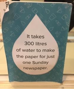 300 لیتر به ازای هر روزنامه