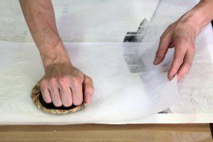 چاپ نقش چوبی سایشی