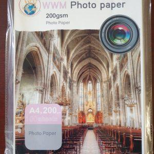 کاغذ فوتو پیپر 200 گرم 100 برگی سایز A4