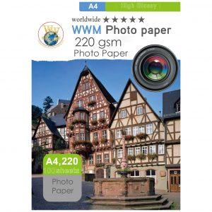کاغذ فوتو پیپر 220 گرم 100 برگی سایز A4