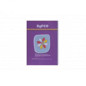 دفتر طرح دار 100 برگ جلد مقوایی فنر دوبل پاپکو
