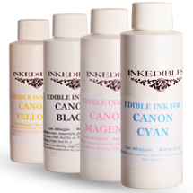 ست جوهر خوراکی اورجینال 4 رنگ Canon برند Inkedibles
