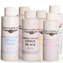 ست جوهر خوراکیاورجینال6 رنگ Epson برند Inkedibles