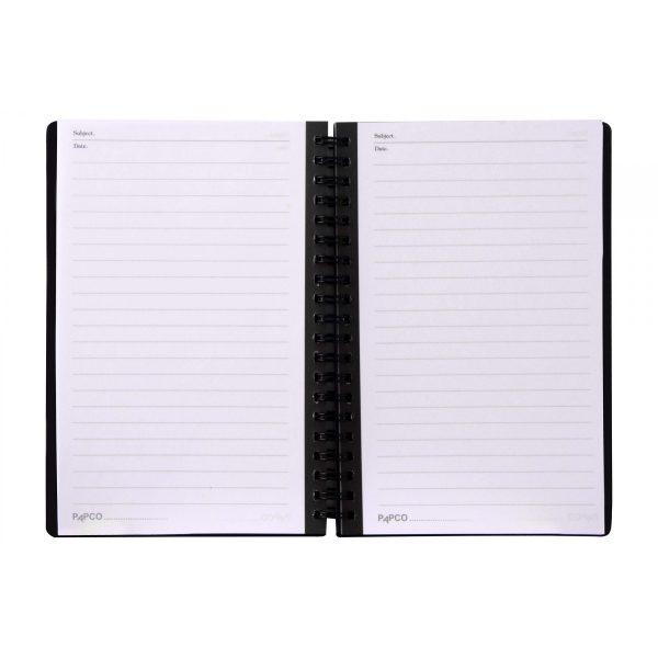 دفتر یادداشت یک خط متالیک ۱۰۰ برگ پاپکو