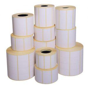 رول لیبل پشت چسب دار کاغذی سایز 10*30 سانتی