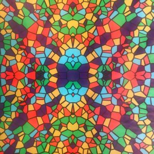 مات کن رنگی شیشه طرح سنتی 5
