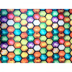 مات کن رنگی شیشه طرح هندسی 3